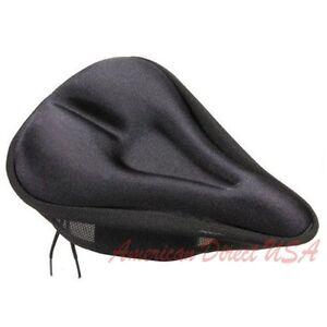 New Bike Bicycle Cycling Soft Gel Saddle Seat Cover Cushion Black