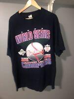 Vtg 1992 Atlanta Braves MLB World Series Competitor Single Stitch T-Shirt XL