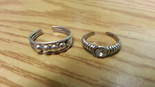 Balls Adjustable Ring 925Sterling*SizeAdjustabl e*F225 Beautiful Two New Toe Ring