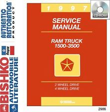 1997 Dodge Ram Truck Shop Service Repair Manual CD Engine Drivetrain Electrical