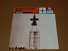 BACHEM BA 349 NATTER 1944-1945 LUFTWAFFE AVIATION FICHE WW2 39-45
