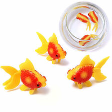 5Pcs Aquarium Fish Tank Plastic Swimming Faux Fake Gold Fish Decoration Ornament