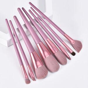 8Pcs Cosmetic Makeup Brushes Set Foundation Powder Eyeshadow Shadow Blush Brush