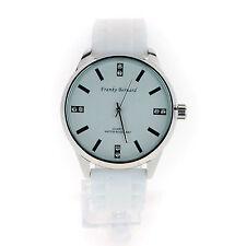 Womens Minimal Silicone Buckle Band Round Rhinestone Analog Wrist Watch