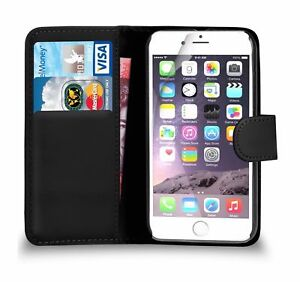 Premium Luxury PU Leather Flip Wallet Book Case Cover For Apple iPhone 8 Plus uk