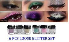 6 Beauty Treats Cosmetics Eye shadow Color Makeup PRO GLITTER Eyeshadow PALETTE