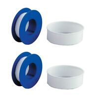 2 x Teflon Tape 8m x 12mm white thread PTFE plumbing tape plumbers sealing water