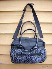 JJ COLE Satchel Diaper Bag Charcoal NEW Tote Handbag Purse~black floral designs