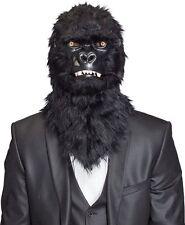 Maske Tiermaske Affe Gorilla bewegliches Maul und leuchtende Augen