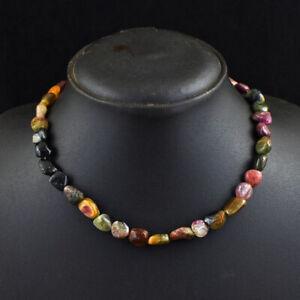 191 Cts Earth Mined Watermelon Tourmaline Beaded Necklace Jewelry JK 15E337