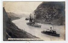 US WARSHIP, CULEBRA CUT: Panama Canal postcard (C21371)