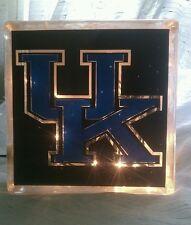 Lighted University of Kentucky Glass Block Light~ Home Decor~Gift~Lamp