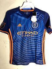 Adidas Youth MLS Jersey New York City FC Team Blue sz M