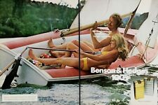 1975 Benson & Hedges 100's Cigarettes Regular Menthol Couple Sail Boat Print Ad