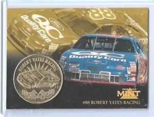 RARE 1997 PINNACLE MINT DALE JARRETT GOLD PLATED COIN & DIE-CUT CARD #23  NASCAR