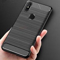 Xiaomi Mi A2/A2 Lite Case Shockproof Carbon Fiber Hybrid Brush Back Cover Case