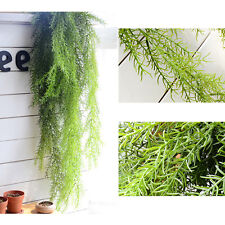 Artificial Faux Vine Garland Plant Fake Foliage Green Ivy Leaf Patio Decor US