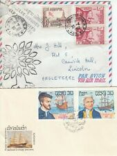 A3424 Laos SEVEN diff covers postcards FDCs 1958 - 2000s