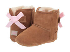 NEW UGG JESSE BOW II BOOTIES CHESTNUT CRIB TODDLER ORIG 1018452I