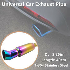 1PCS Car ID. 2.25in /55mm Chrome Stainless Steel Exhaust Pipe Racing Muffler Tip