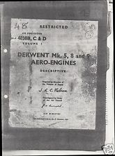 Rolls-Royce Derwent engine manual technical service ops Meteor Delta archive