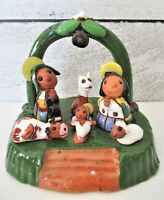 Ceramicas Walter Made in Bolivia Clay Figurine Nativity Family Vintage Pottery