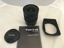 Tokina FiRIN 20mm F/2.0 FE Manual Focus Lens for Sony E Series