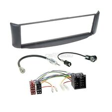 SMART FORTWO 98-07 1-din RADIO COCHE SET MONTAJE Cable Adaptador Marco de Gris
