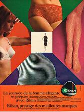 PUBLICITE ADVERTISING  1965   RILSAN  slip sous vetements chaussettes