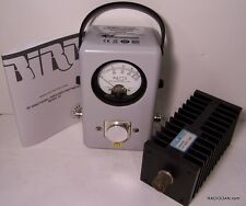 Bird 43 Wattmeter NEW, 100 watt Load, manual, element