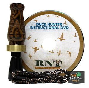 RNT RICH-N-TONE HUNTER SERIES BOCOTE WOOD POLYMER DUCK CALL DVD COMBO LANYARD