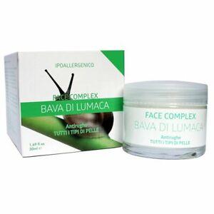 3 Confezioni Face Complex Crema Bava di Luma Antirughe Tutti Tipi di Pelle 50ml