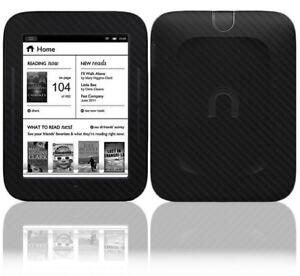 Skinomi Black Carbon Fiber Skin+Screen Film for Barnes & Noble Nook Simple Touch