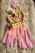 Glamour Dance Costume Solo Lyrical Child Medium new With Tags)