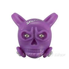SKULLY Skull LED Front/Rear Detachable Light , 2 x Green LED's , Purple