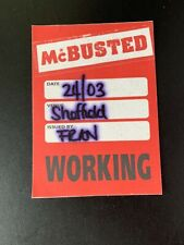 McBusted concert/touring pass