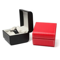 Single Slot Watch Storage Case PU Leather Jewelry Organizer Display Box for Gift