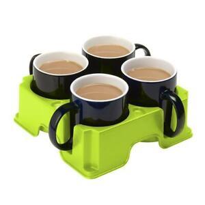 Camping Caravan Motorhome Kitchen Muggi Green Plastic Mug / Cup / Glass Holder