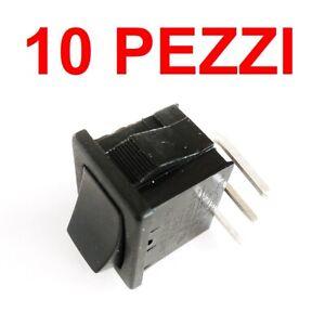 10 pezzi  Interruttore Deviatore 3 posizioni ON OFF ON a bilancere 250V 6A PCB