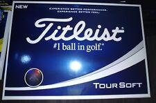 2018 Titleist Tour Soft WHITE Golf Balls New Model : 2 dozen Free Priority Ship