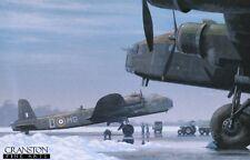 WW2 Aviation Art Blank inside Greeting Card Stirling heavy bomber 7 Squadron RAF