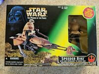 "Luke Skywalker with Speeder Bike Endor 3.75"" Kenner POTF 1996 NEW 69760 MIB"