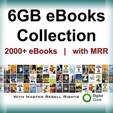 6GB EBooks Make Money Online Collection with Resell Rights (PDF) 2,000 ebooks