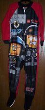 The LEGO Movie Good COPS Pajamas Boy's 4 NeW Zip-Up Footed Fleece Pjs Legos