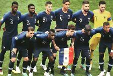 Frankreich Nationalmannschaft Weltmeisterschaft Finale 2018 Fussball - Postkarte
