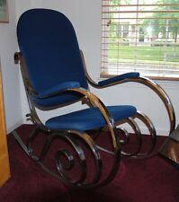 Vintage Mid-Century Modern Chrome Rocker Rocking Chair: Baughman, Maison Jansen