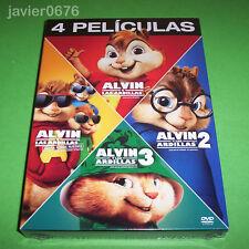 ALVIN Y LAS ARDILLAS COLECCION 4 PELICULAS EN DVD PACK NUEVO Y PRECINTADO
