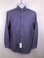 NEW - Penguin Purple & White Slim Fit Dress Shirt Men's 15-32/33. A194