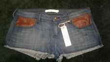 Frankie B. Women's Low Rise Denim Shorts Size 28 - Faux leather Pockets