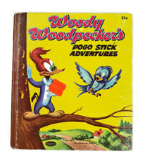 Woody Woodpecker Pogo Stick Adventures 1954 Child Picture Book Whitman